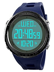 cheap -Men's Kid's Sport Watch Wrist watch Chinese Digital Calendar / date / day Chronograph Water Resistant / Water Proof Large Dial Dual Time