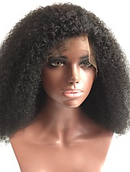 cheap -Human Hair Full Lace Wig Brazilian Hair Curly Kinky Curly 150% Density With Baby Hair Glueless Natural Hairline Medium Women's Human Hair