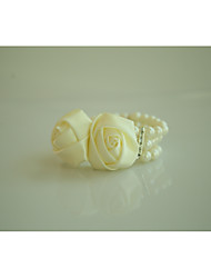 "cheap -Wedding Flowers Wrist Corsages Wedding Special Occasion Grosgrain Beads 3/4 3.15""(Approx.8cm)"