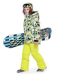Phibee Garçon Veste de Ski Chaud Etanche Pare-vent Vestimentaire Antistatique Respirabilité Sports de neige Alpinisme Après Ski Sports