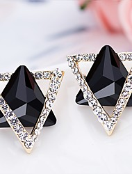 Women's Stud Earrings Hoop Earrings Crystal Rhinestone Classic Fashion Hypoallergenic Korean Elegant Crystal Alloy Geometric Jewelry For