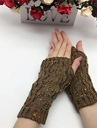 cheap -Women's Casual Wrist Length Half Finger - Patchwork