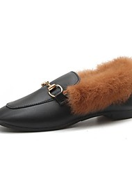 Femme Chaussures Polyuréthane Hiver Confort Mocassins et Chaussons+D6148 Plat Bout rond Pour Décontracté Beige Marron
