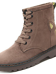 Women's Shoes PU Winter Comfort Boots For Sports & Outdoor Khaki Yellow Black
