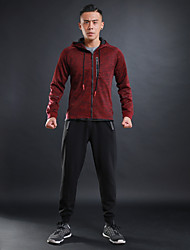 cheap -Men's Tracksuit Long Sleeves Quick Dry Tracksuit Clothing Suits for Running/Jogging Jogging Cotton Polyster Black Black/Red Grey Royal
