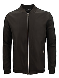 cheap -Men's Basic Bomber Jacket - Solid Colored