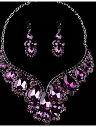 cheap -Women's Others Jewelry Set - Regular Purple / Red / Blue Drop Earrings / Necklace For Wedding / Party