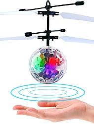 LED Lighting Flying Gadget Stress Relievers Toys Circular Aircraft Flourescent Noctilucent Boys' Girls' Pieces