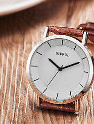 GUANQIN Homens Relógio Casual Relógio de Moda Chinês Quartzo Mostrador Grande Couro Banda Luxo Casual Preta Marrom