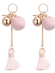 cheap -Women's Drop Earrings Tassel Fashion Cloth Alloy Ball Jewelry For Daily