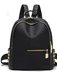 cheap -Women Bags Nylon Backpack Zipper for Outdoor All Season Black