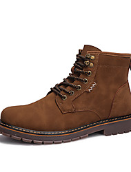 Men's Shoes Customized Materials Fall Winter Comfort Combat Boots Boots Mid-Calf Boots For Casual Office & Career Brown Black