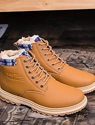 Homme Chaussures Polyuréthane Printemps Automne Confort Mocassins et Chaussons+D6148 Pour Décontracté Noir Orange Bleu
