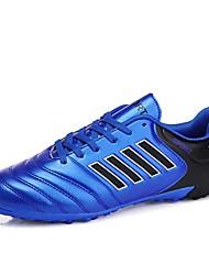 baratos -Homens sapatos Couro Sintético / Couro Ecológico Verão / Inverno Solados com Luzes Tênis Futebol Laranja / Amarelo / Azul