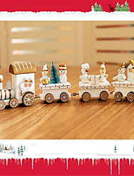 Недорогие -Рождественский декор Новогодние подарки Рождественские игрушки Поезд Праздник Шлейф Для детской День рождения Снеговик деревянный Детские Взрослые Мальчики Девочки Игрушки Подарок 1 pcs