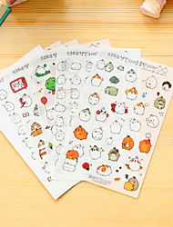 cheap -6 Pcs/Set Cartoon Fat Rabbit Diary Sticker Phone Sticker Scrapbook Stickers
