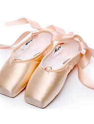 cheap -Women's Ballet Satin Flat Full Sole Practice Beginner Professional Indoor Performance Flat Heel Almond Non Customizable