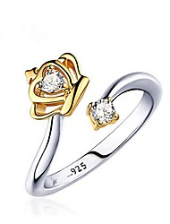 cheap -Men's Women's Couple Rings Cubic Zirconia Fashion Gold Plated Crown Jewelry For Other Gift