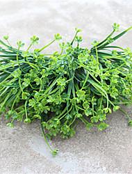 34cm 4 Pcs 42 head/branch Green flower/Grass Home Decoration Artificial Grass