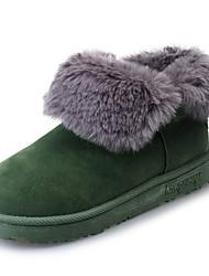 Damen Schuhe PU Winter Komfort Stiefel Für Sport & Natur Schwarz Grau Armeegrün