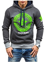 cheap -Men's Sports Vintage Hoodie - Color Block, Cut Out Hooded