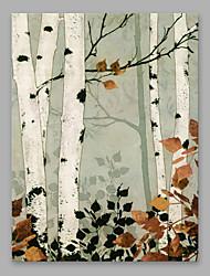 preiswerte -Handgemalte Blumenmuster/Botanisch Vertikal, Modern Segeltuch Hang-Ölgemälde Haus Dekoration Ein Panel