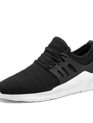 cheap -Men's Sneakers Spring Summer Fall Comfort Light Soles Tulle Outdoor Casual Flat Heel Walking Shoes Black Grey Blue