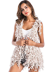 cheap -Sleeveless Acrylic Wedding Party / Evening Women's Wrap With Tassel Vests
