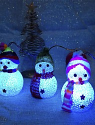 cheap -1PC Christmas Decoration Color Changing Led Snowman Lamp Random Color