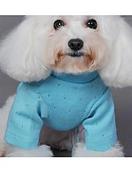 Cane Maglioni Abbigliamento per cani Casual Solidi Verde Blu Rosa Costume Per animali domestici