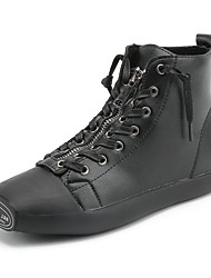 Недорогие -Жен. Обувь Дерматин Весна Осень Оригинальная обувь Кеды На плоской подошве Квадратный носок Драпировка для Белый Черный