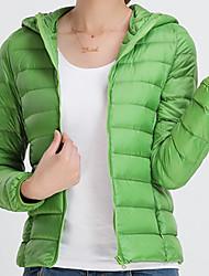 Dámské Dlouhý kabát Jednoduchý Jdeme ven Běžné/Denní Jednobarevné-Kabát Polyester Dlouhý rukáv
