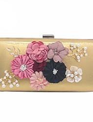Ženy Tašky Celoroční Polyester Večerní kabelka Květina(y) pro Svatební Večírek Zlatá Černá Stříbrná