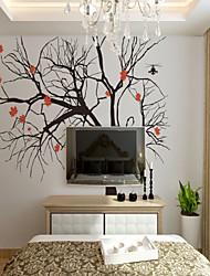 baratos -Árvores/Folhas Art Deco 3D Decoração para casa Moderna Clássico Rústico Revestimento de paredes, Tela de pintura Material adesivo
