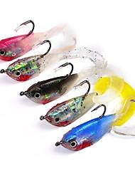 cheap -5 pcs Fishing Tools Fishing Lures Shad Jig Head Soft Bait Plastic Sea Fishing Bait Casting Lure Fishing