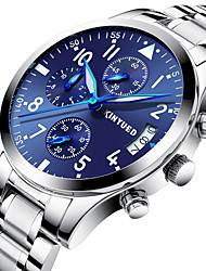 cheap -Men's Quartz Wrist Watch Military Watch Sport Watch Swiss Calendar / date / day Chronograph Noctilucent 304 Stainless Steel Band Luxury