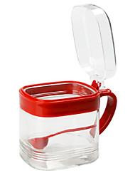cheap -1pcs Kitchen Glass Spice Racks