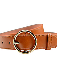 cheap -Women's Wide Belt,Brown White Black Camel Casual Solid