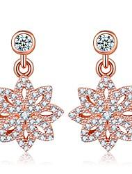 Mujer Pendientes colgantes Zirconia Cúbica Cristal Zirconia Cúbica Joyas Para Boda Fiesta de Noche
