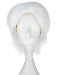 cheap -Synthetic Hair Wigs Straight Capless Carnival Wig Halloween Wig Party Wig Lolita Wig Natural Wigs Cosplay Wig Short White