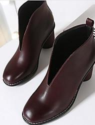 Femme Chaussures Autre Peau d'Animal Printemps Automne Confort Botillons Bottes Pour Décontracté Noir Marron
