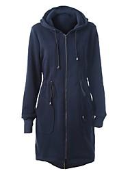 Dámské S vycpávkou Jednoduchý Jdeme ven Běžné/Denní Jednobarevné-Kabát Polyester Dlouhý rukáv