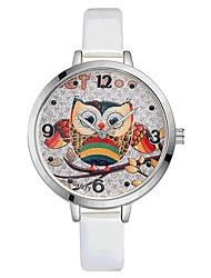 Недорогие -Жен. Наручные часы Китайский Кварцевый Крупный циферблат PU Группа На каждый день Цветной Elegant Черный Белый Красный Коричневый Розовый