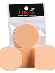 cheap -4 pcs Powder Puff Sponge Round Quadrate Women Men Powder