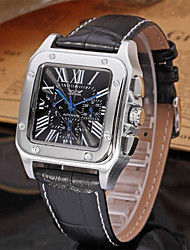 cheap -Men's Casual Watch Fashion Watch Dress Watch Wrist watch Automatic self-winding Leather Band Casual Cool