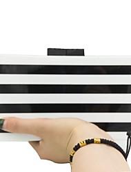 Ženy Tašky Celoroční PVC Večerní kabelka Vzor / Tisk pro Svatební Večírek Černobílá