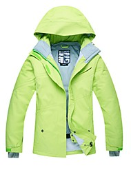cheap -Women's Ski Jacket Warm Waterproof Windproof Wearable Breathability Ski / Snowboard Hiking Back Country Cotton Eco-friendly Polyester