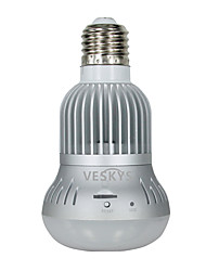 VESKYS® 960P 360 Degree Fish Eye Lens 1.3MP Wireless Wi-Fi Full View Light Bulb IP Camera Smart Bulb Light for Home Security