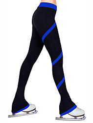 cheap -Figure Skating Pants Women's Girls' Ice Skating Tights Bottoms Red Blue Light Blue Light Pink Light Green High Elasticity Practise
