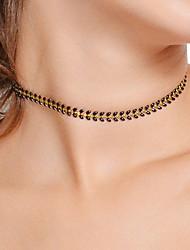 Недорогие -Жен. Ожерелья-бархатки / Ожерелья-цепочки  -  Цветы Черный, Красный, Светло-Зеленый Ожерелье Назначение Для вечеринок, Повседневные